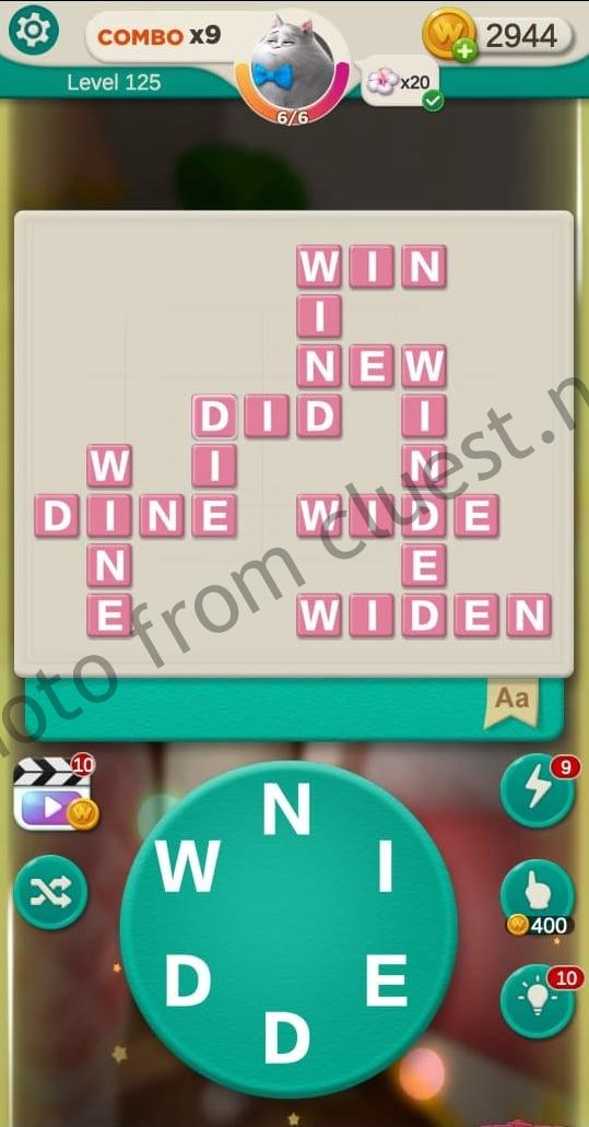 Word Villas Level 125 Answers Cluest