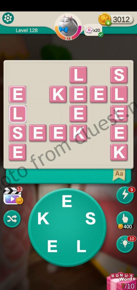 Word Villas Level 128 Answers Cluest