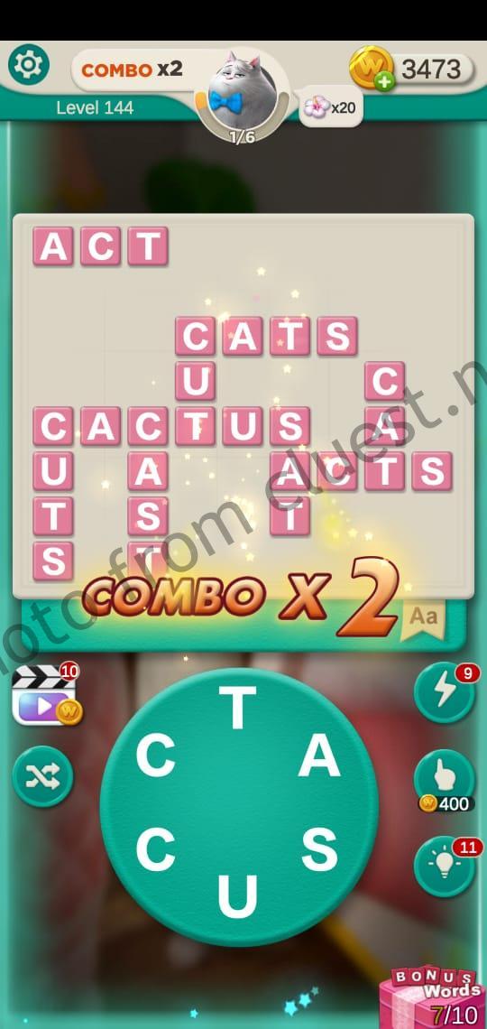 Word Villas Level 144 Answers Cluest