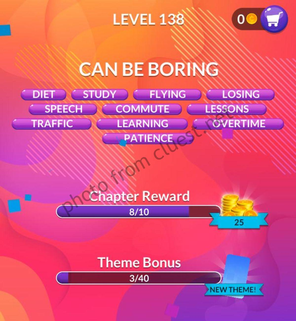 Word Stacks Level 138 Answers And Cheats Cluest