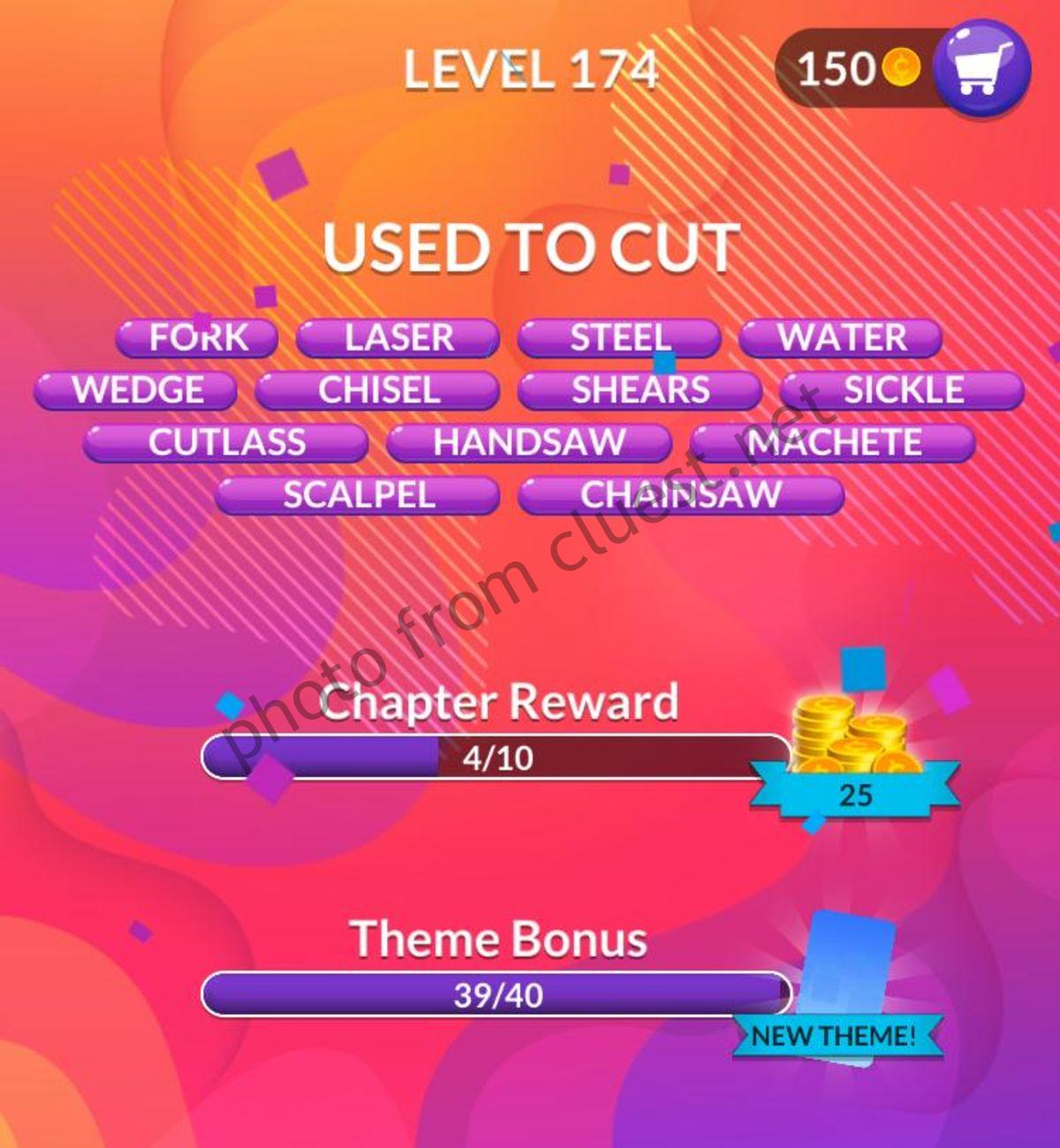 Word Stacks Level 174 Answers And Cheats Cluest