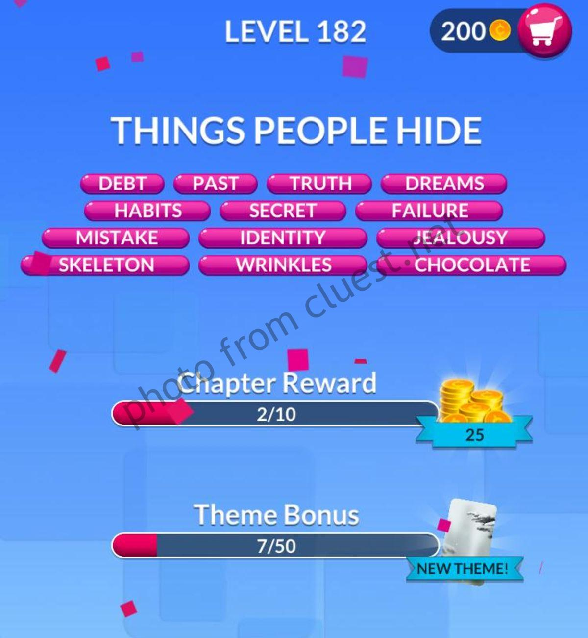 Word Stacks Level 182 Answers And Cheats Cluest