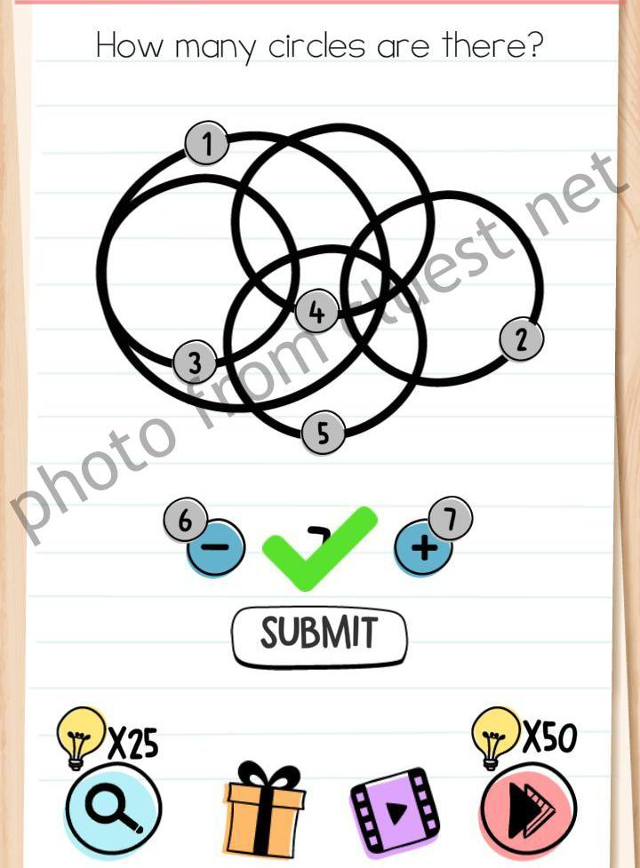 Brain Test Level 194 How Many Circles Are There Answers Cluest