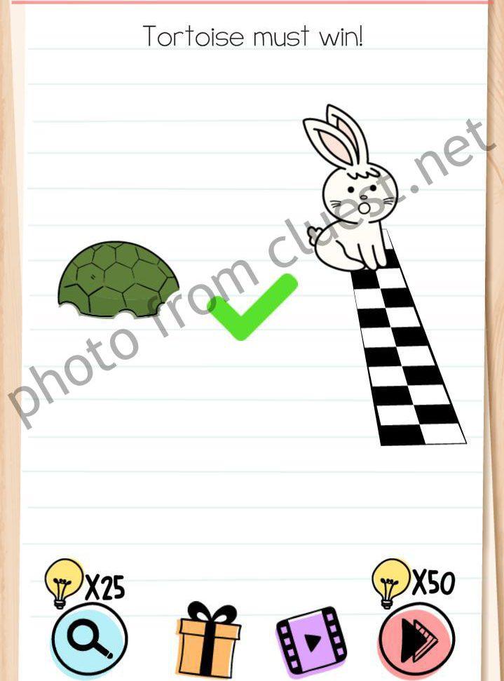 Brain Test Level 162 Tortoise Must Win Answers Cluest