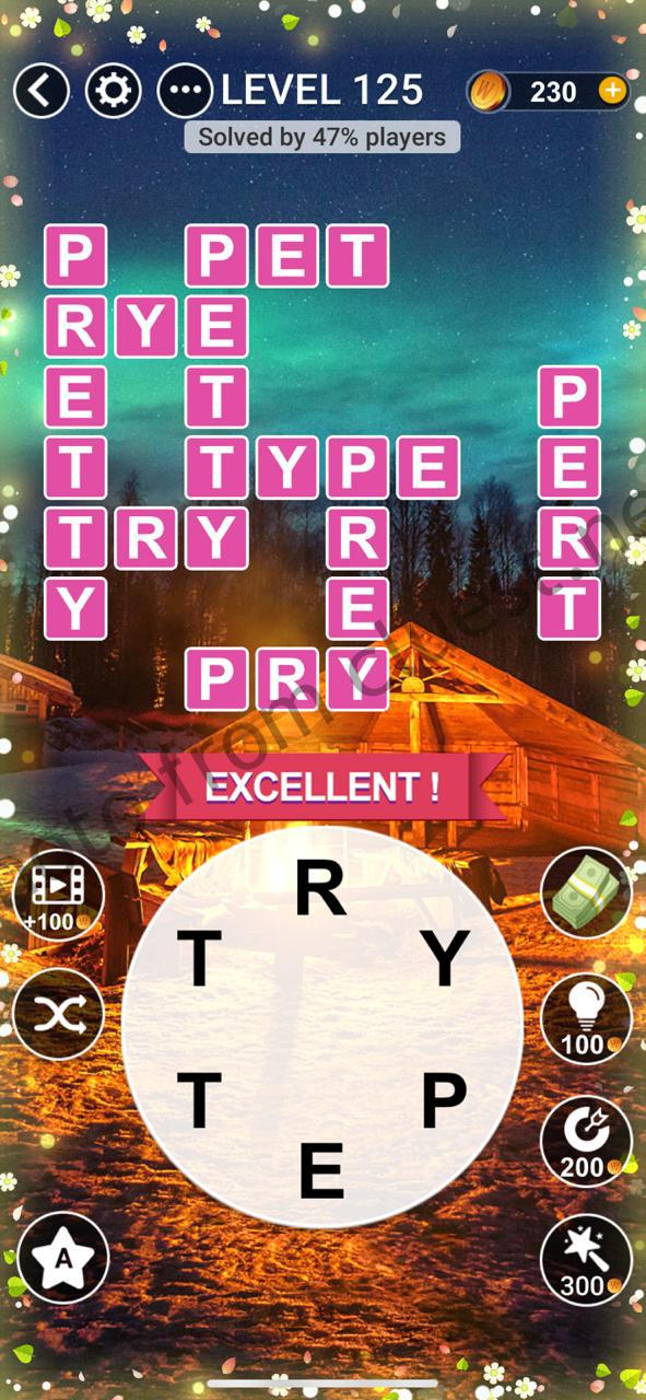 Word Relax Level 125 Answers Cluest
