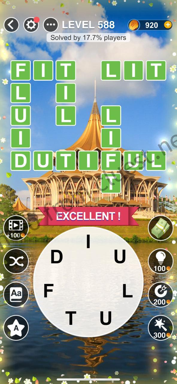 Word Relax Level 588 Answers - CLUEST