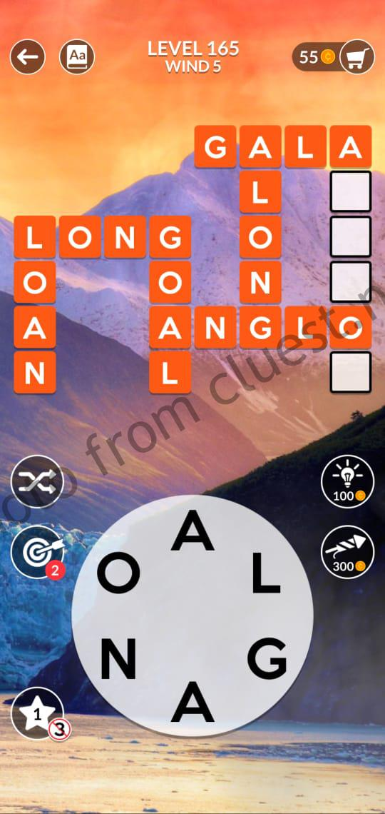 Wordscapes Level 165 Wind 5 Answers Cluest