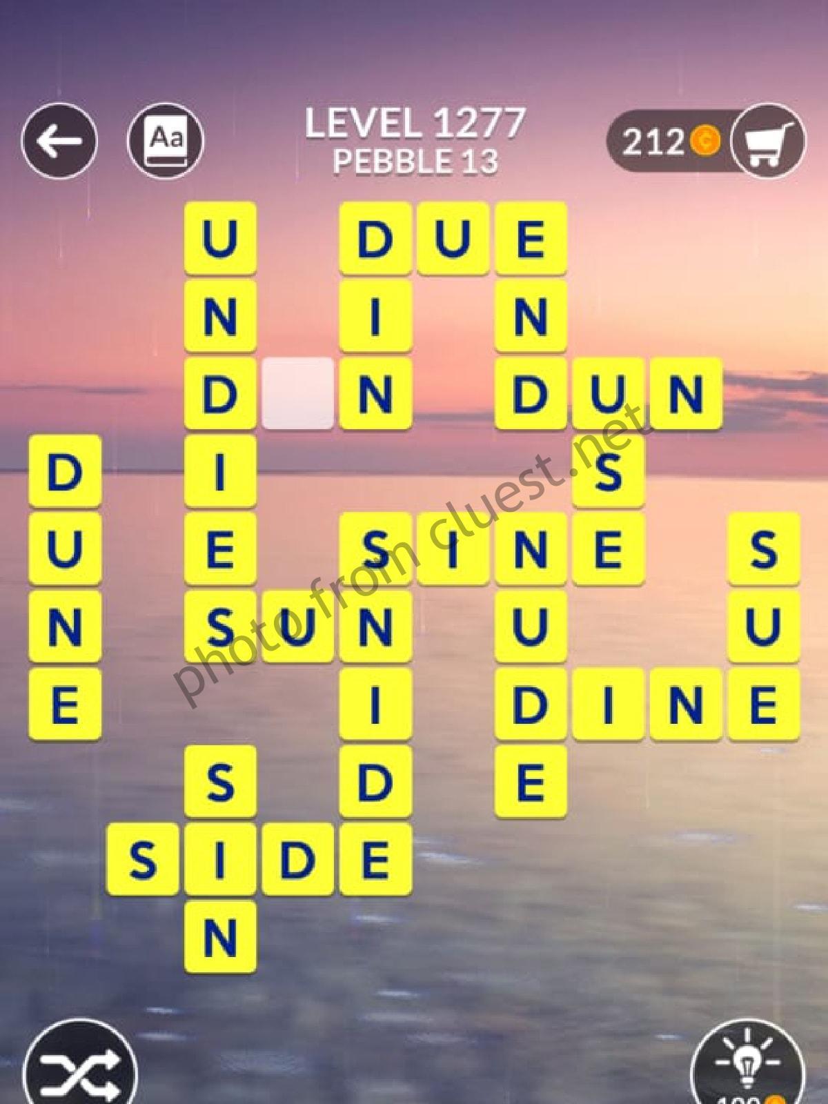 Wordscapes Level 1277 Pebble 13 Answers Cluest
