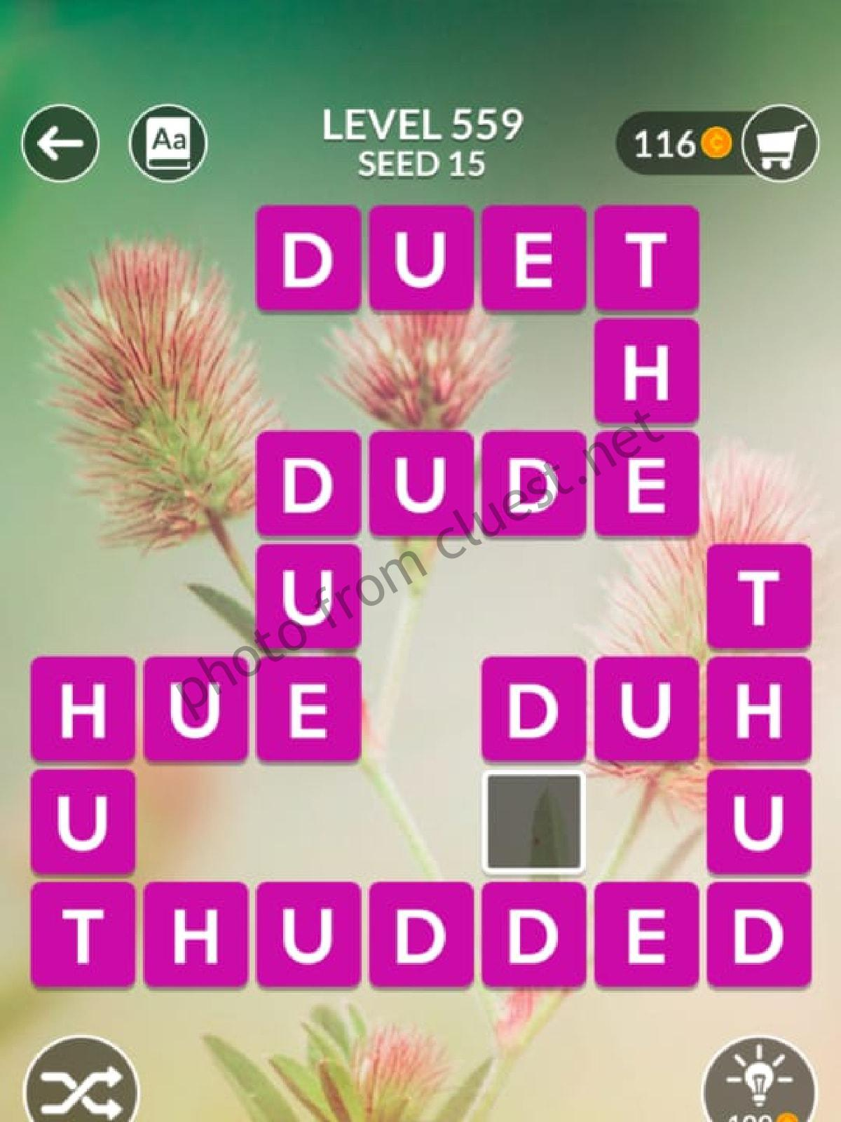 Wordscapes Level 559 Seed 15 Answers Cluest