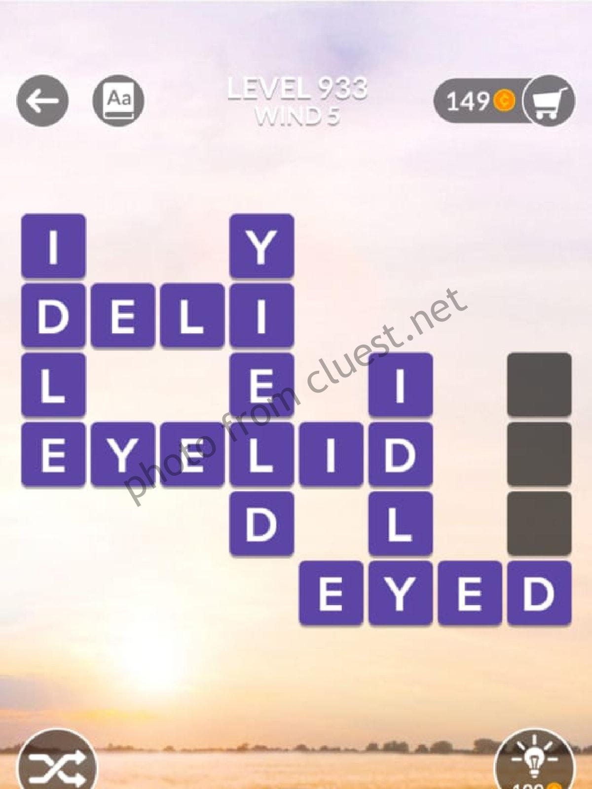Wordscapes Level 933 Wind 5 Answers Cluest