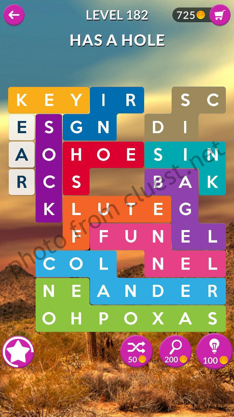 Word Shapes Level 182 Has A Hole Answers Cluest