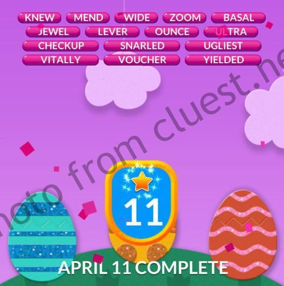 Word Stacks Daily April 11 2020 Answers Cluest
