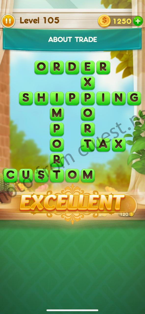 Word Free Time Level 105 About trade Answers and Solutions ...