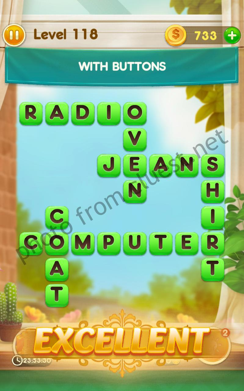 Word Free Time Level 118 With Buttons Answers And Solutions Cluest
