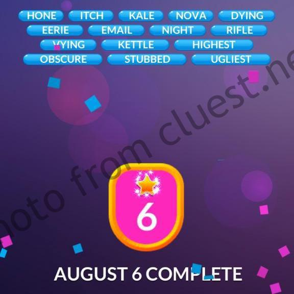 Puzzle Page Word Slide August 6 2020 Solutions » Qunb  |6 August 2020
