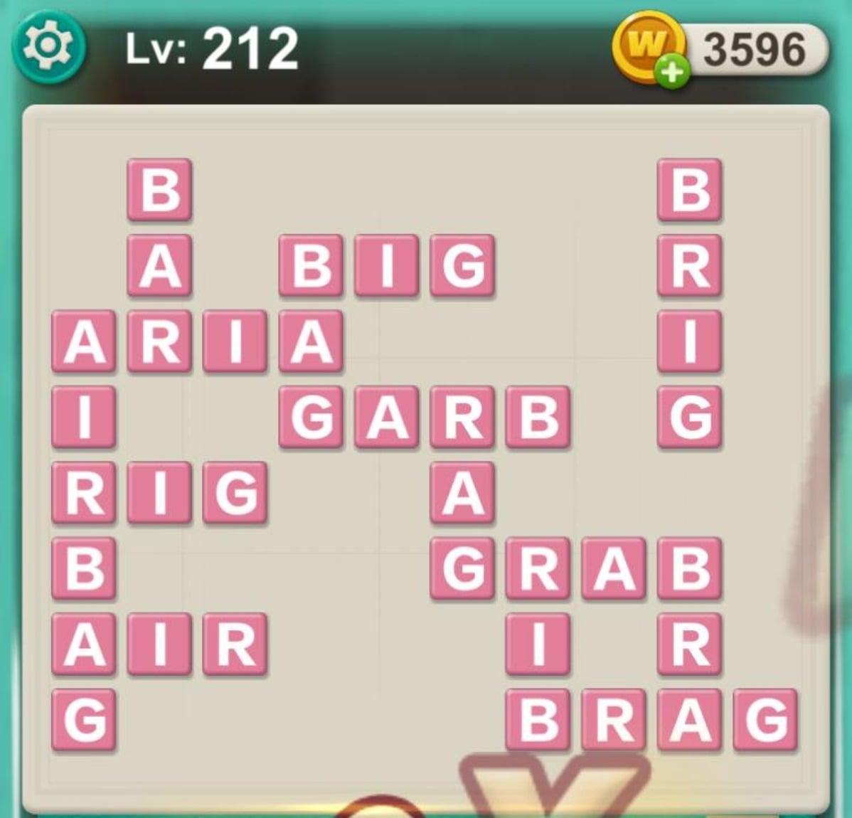 Word Villas Level 212 Answers Cluest